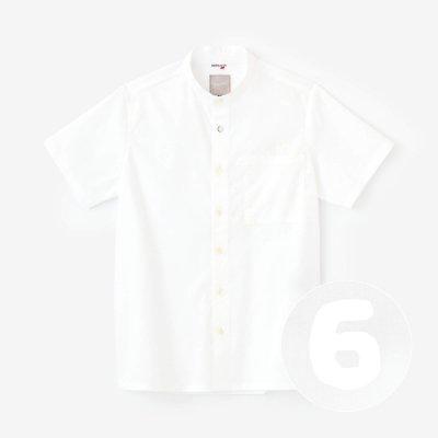 クールマックスストレッチ スタンドカラー 半袖シャツ/つくも×SO-SU-U昆