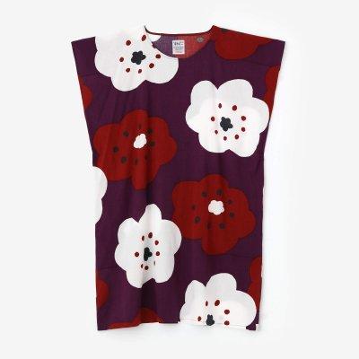 高島縮 20/20 長方形衣(ちょうほうけい)/ほほえみ 濃紫(こきむらさき)