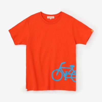 チャリンコ 半袖Tシャツ2/橙色(だいだいいろ)