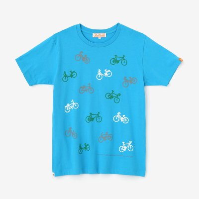 チャリンチャリン 三味(みつみ) 半袖Tシャツ/天色(あまいろ)