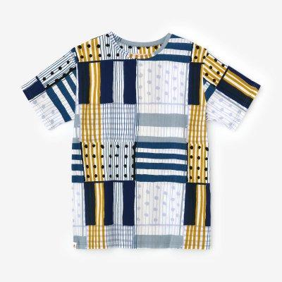 高島縮 40/40 半袖Tシャツ/重ね(かさね)
