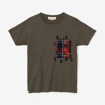 半袖 ポケットTシャツ/鉛色(なまりいろ)×SO-SU-U昆(こん)