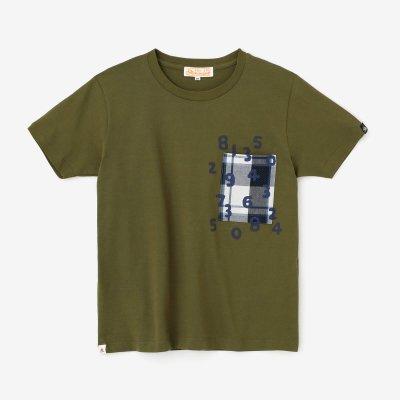 半袖 ポケットTシャツ/海松色(みるいろ)×SO-SU-U昆(こん)