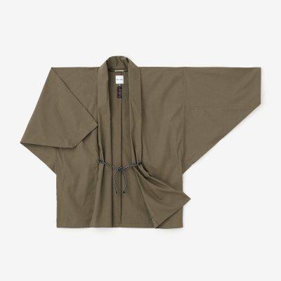 綿テンセル タイプライタークロス もじり袖 短衣(たんい) 単(ひとえ)/海松色(みるいろ)