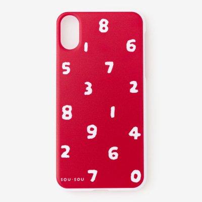 【net限定30%OFF】iPhone_XS_Max テキスタイルカバー/SO-SU-U 紅色