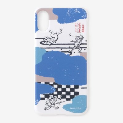 【net限定30%OFF】iPhone_XR テキスタイルカバー/雲間と鳥獣戯画