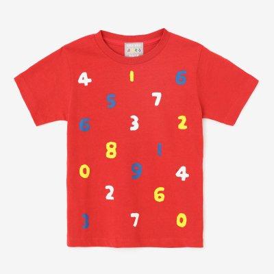 ●そすうみつみ はんそでTシャツ/あかいろ