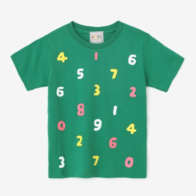 ●そすうみつみ はんそでTシャツ/みどりいろ