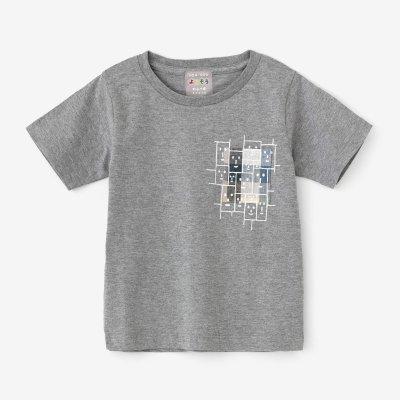 ●はんそでぽけっとTシャツ/はいいろ×えがお