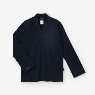 高島縮 20/20 筒袖襯衣(つつそでしんい)/留紺(とめこん)