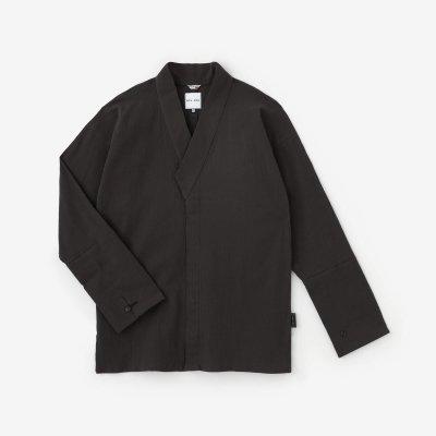 高島縮 20/20 筒袖襯衣(つつそでしんい)/濃灰(こいはい)