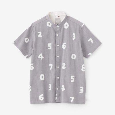 高島縮 20/20 スタンドカラー半袖シャツ/SO-SU-U