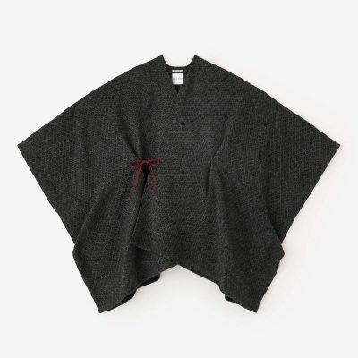 紡毛(ぼうもう) 菱小紋織(ひしこもん) きさらぎ/墨色(すみいろ)