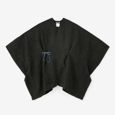紡毛(ぼうもう) 菱小紋織(ひしこもん) きさらぎ/黒緑(くろみどり)