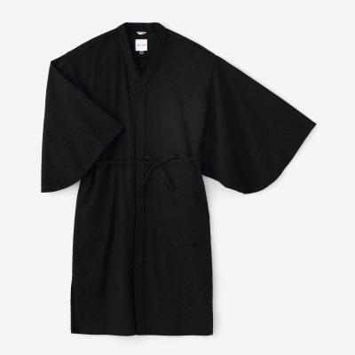 梳毛 杉綾織(すぎあやおり) 薙刀かり衣 細衿(さざれえり)/濡羽色(ぬればいろ)