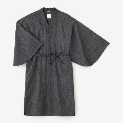 梳毛 杉綾織(すぎあやおり) 薙刀かり衣 細衿(さざれえり)/羅墨(らぼく)
