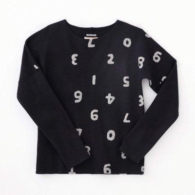 ウール混 ポンチローマ 型ぬき長袖Tシャツ/SO-SU-U上下(しょうか)と余白(よはく) 深紺(しんこん)