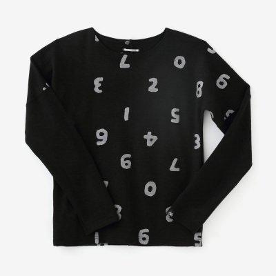 ウール混 ポンチローマ 型ぬき長袖Tシャツ/SO-SU-U上下(しょうか)と余白(よはく) 濡羽色(ぬればいろ)