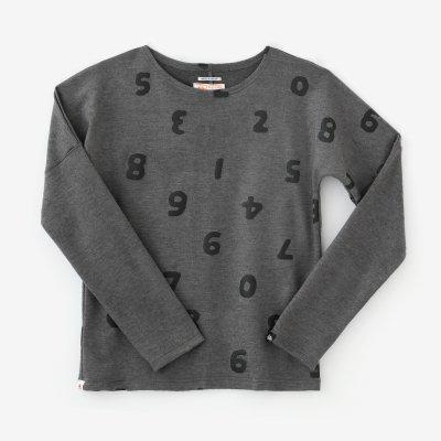 ウール混 ポンチローマ 型ぬき長袖Tシャツ/SO-SU-U上下(しょうか)と余白(よはく) 消炭色(けしずみいろ)