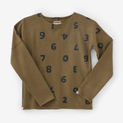 ウール混 ポンチローマ 型ぬき長袖Tシャツ/SO-SU-U上下(しょうか)と余白(よはく) 鶯茶(うぐいすちゃ)