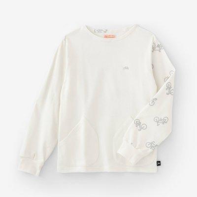 ジャージー編 ボートネックシャツ/ホワイト×チャリンチャリンあっちこっち