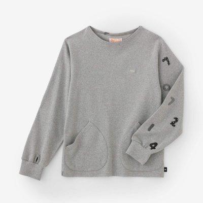 【net限定】ジャージー編 ボートネックシャツ/ヘザーグレー×SOU・SOU京都