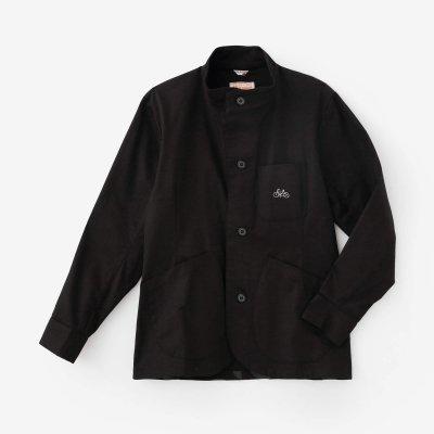 ストレッチチノクロス BIKEジャケット/ブラック×MBP