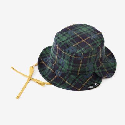リバーシブル BIKE HAT/グリーンチェック×SO-SU-U