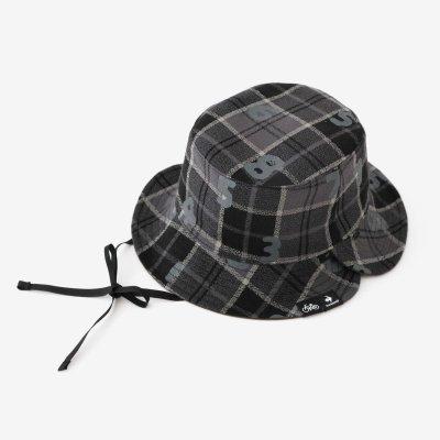 リバーシブル BIKE HAT/グレーチェック×SO-SU-U