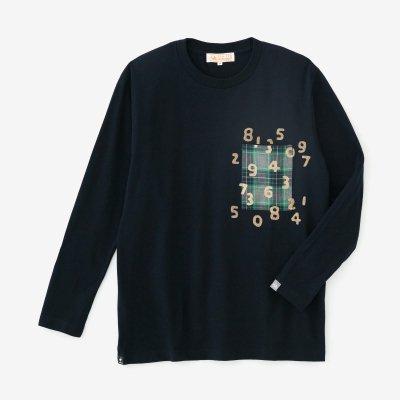 長袖 ポケットTシャツ[5.6]/ネイビー×SO-SU-U昆(こん)
