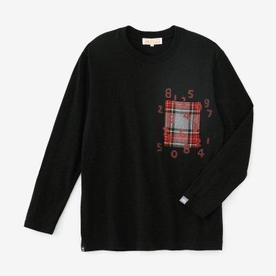 長袖 ポケットTシャツ[5.6]/ブラック×SO-SU-U昆(こん)