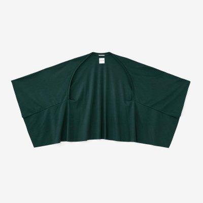 【net限定】梳毛(そもう) 両面編(りょうめんあみ) むささび 短丈/深緑色(しんりょくしょく)