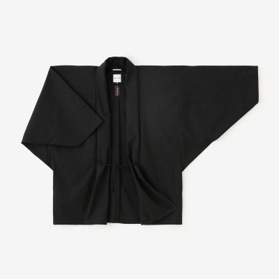 高密度(こうみつど) 斜子織(ななこおり) もじり袖 短衣 単/濡羽色(ぬればいろ)