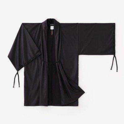 フェイクヌバック 宮中袖(きゅうちゅうそで) 間(けん) 単(ひとえ)/黒紫(くろむらさき)