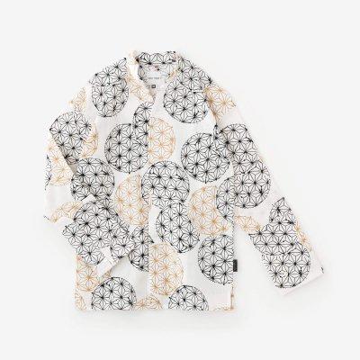 高島縮 20/20 立衿(たちえり) 筒袖襯衣(つつそでしんい)/麻てまり