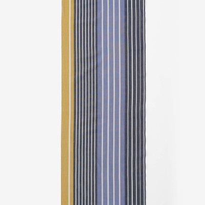 テキスタイル計り売り (伊勢木綿 20/20)/染流し縞 芥子色(からしいろ)<50cm>