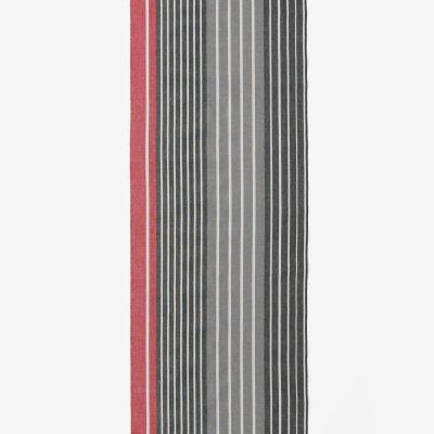 テキスタイル計り売り (伊勢木綿 20/20)/染流し縞 臙脂色(えんじいろ)<50cm>
