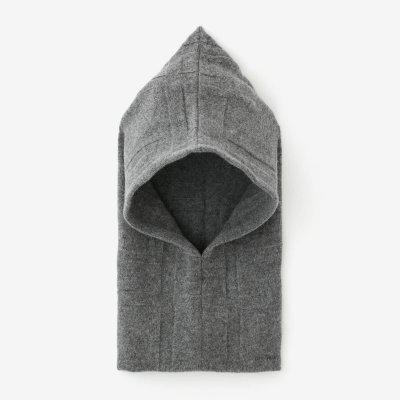 【予約】阿弥(あみ) 袖頭巾(そでずきん)/桟(さん) 杢灰(もくはい)(※11月中旬発送予定)