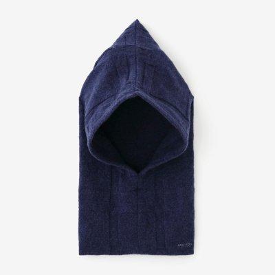 【予約】阿弥(あみ) 袖頭巾(そでずきん)/桟(さん) 淡紺桔梗(うすこんききょう)(※11月中旬発送予定)