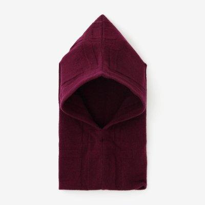 【予約】阿弥(あみ) 袖頭巾(そでずきん)/桟(さん) 紫檀色(したんいろ)(※11月中旬発送予定)