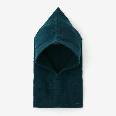 【予約】阿弥(あみ) 袖頭巾(そでずきん)/桟(さん) 納戸色(なんどいろ)(※11月中旬発送予定)