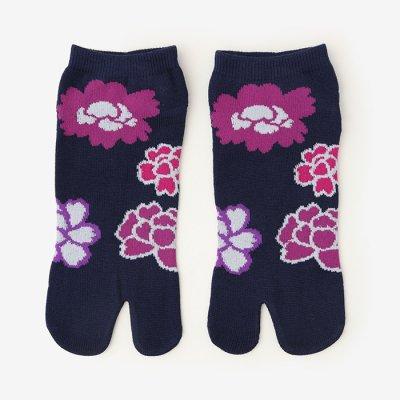 足袋下(踝丈)/牡丹 【男・女性用】