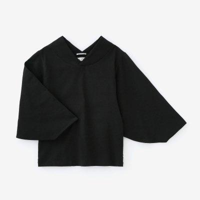 高島縮 40/40 薙(なぎ)ジバン/濡羽色(ぬればいろ)