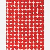 テキスタイル計り売り (21番手平織)/おはじき大 乳白(にゅうはく)×深緋(こきひ)<50cm>