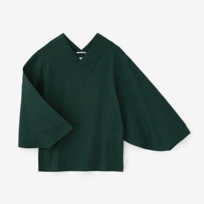 高島縮 40/40 薙(なぎ)ジバン/深緑色(しんりょくしょく)