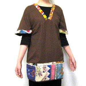 エスニックファッション・アジアンファッション  インド刺繍プルオーバー