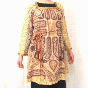 エスニックファッション・アジアンファッション  レリック起毛ドレス/エスニックファッション・アジアンファッション・アウトレット・セール