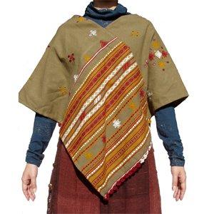 エスニックファッション・アジアンファッション ウールひし形ポンチョ