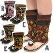ラオス生地ブーツサンダル/エスニックファッション・アジアンファッション・アウトレット・セール