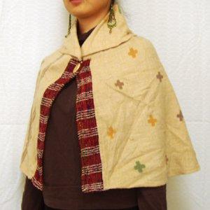 エスニックファッション・アジアンファッション シルクテープケープ